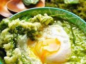 Soupe petits pois, fèves fanes carottes poché… comme repas dans