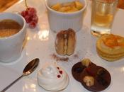 Café gourmand meringue cerise, petit four l'orange, salade fruit sirop, buchette tiramisu, mendiants {Noël Fêtes}