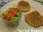 Salade d'avocat gravlax saumon citronelle
