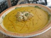 Crème carottes jaunes poireaux safran