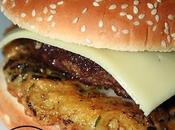 Burger Canard griotte galette pomme terre