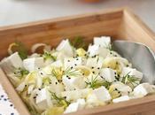 Salade d'endives, huile d'olive mandarine feta