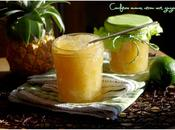 Confiture ananas, citron vert gingembre