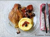 Canard braisé olives, tomates séchées romarin