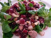 Salade betterave, poire thon