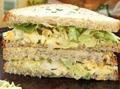 Sandwich oeufs laitue (Egg salad sandwich)
