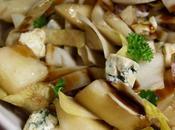 Salade d'endives, poires, jambon fromages bleu