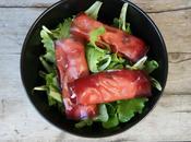 Salade avec brésaola ricotta