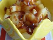 Fromage blanc pommes, caramel beurre salé