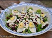Salade Pourpier, betterave feta, vinaigrette l'orange