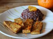 Tofu caramélisé l'orange sauvage