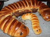 Brioche Chenille nutella, praliné Douda briochée