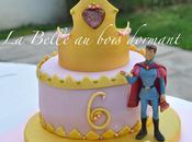 Belle bois dormant: Gâteau d'anniversaire (pâte sucre)