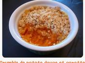 Crumble patate douce carotte