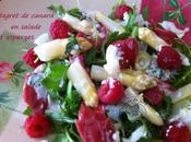 Magret salade asperges