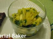 Salade d'ananas banane vanille coriandre