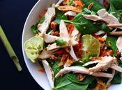 Salade façon thaïe poulet