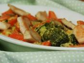 Cocotte poulet carottes brocolis