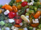 Salade d'asperges feta