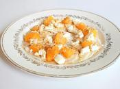 Carpaccio radis noir-orange-chèvre, sésame grillé sauce miel soja