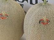 Deux melons vendus euros Japon