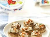Champignons farcis fromage Vache Rit® bacon