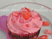 Cupcake framboise pralines roses