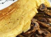 Omelette farine pois chiche sauce herbes