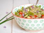 Taboulé quinoa haricots plats crudités saison