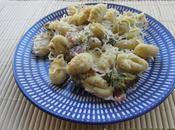 Gnocchis gratinés, brocolis jambon