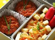 Bento mini cake tomate semoule, légumes, thon Saupiquet®