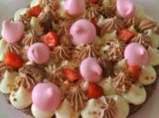 FantastiK :Pâte sablée Pierre Hermé ,Feuilletine ,crème chocolat blanc Chantilly Nutella meringuettes fraises Pralin