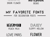 Free favorite fonts blog