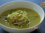 Soupe d'asperges, éffilochées poireaux