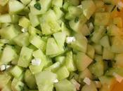 Salade concombre, feta menthe