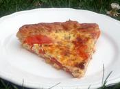 Quiche tomates crème anchois/ parmesan
