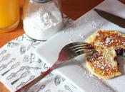 Pancakes myrtilles, sans gluten, lait