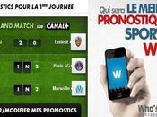 Ligue faites pronostics avec Who's Canal+