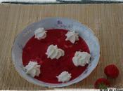 Soupe fraises basilic, chantilly maison poivre pamplemousse