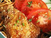 Bento poulet frit sauce soja