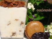 Mousse glacée pruneaux l'armagnac macarons