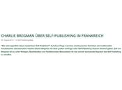 Charlie Bregman, l'écriture l'auto-édition