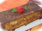 Terrine/flan courgette,poivron,tomate,saumon/surimi