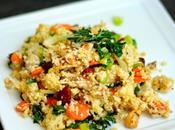Salade millet accents asatiques (bok choy, noix coco cajou)