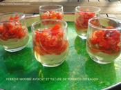 Verrine mousse avocat tatare tomates estragon