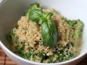Quinoa, brocoli basilic, comme risotto!