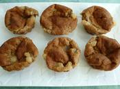 muffins hyperprotéinés poire amande d'avoine avec teff amarante (sans sucre beurre)