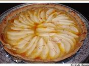 Tarte poires, compote pommes safran