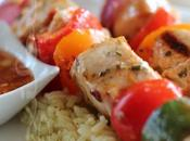 ~Brochettes poulet lime, sauce l'orange~