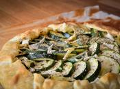Tarte Courgettes Camembert herbes provence